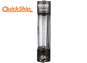 Brooks 1350G flow meter with valve