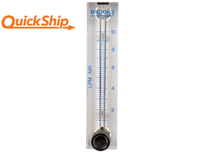 Brooks 2530 variable area flow meter with valve