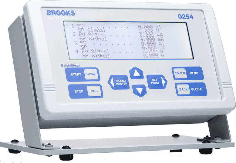 Brooks 0254 Four Channel Power Supply, Readout & Set Point Controller