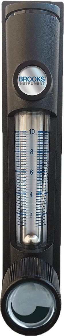 Brooks Instrument Flowmeter 2520A4A36SVVT 1//8 FNPT SS Ftg 20-200 SCFH Air Inlet Valve 3/% F.S.