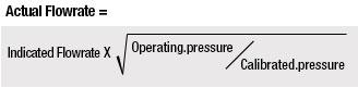 Pressure Correction Calculation